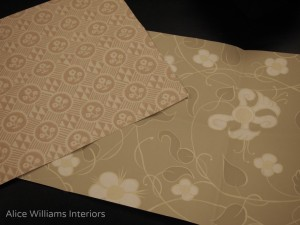 Memo samples of wall coverings Melissa White Arden Collection for Zoffany